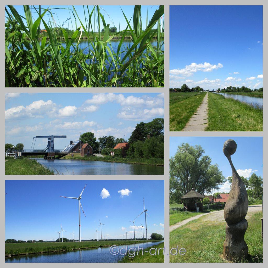 Friesische Dörfer am Ems-Jade-Kanal