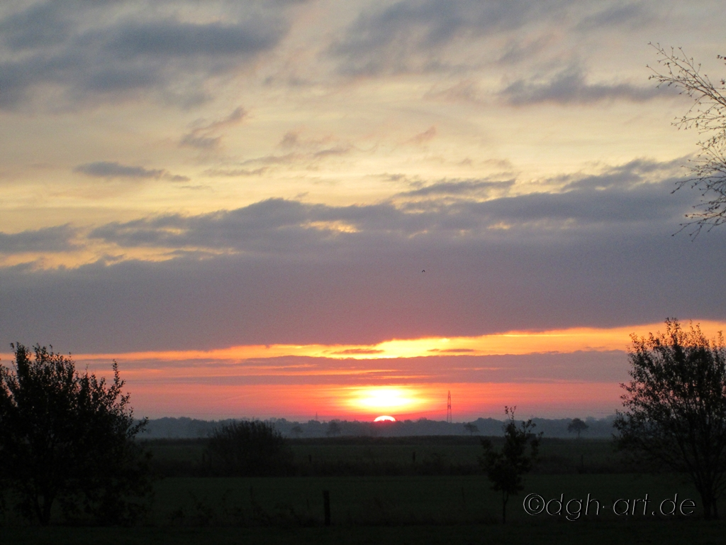 Sonnenaufgang in Friesland